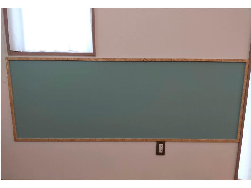 黒板ボードの完成した様子