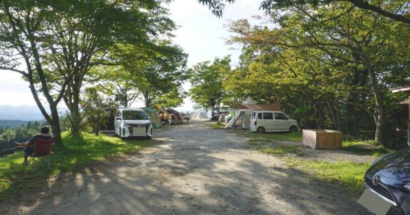 キャンプサイトの距離感例