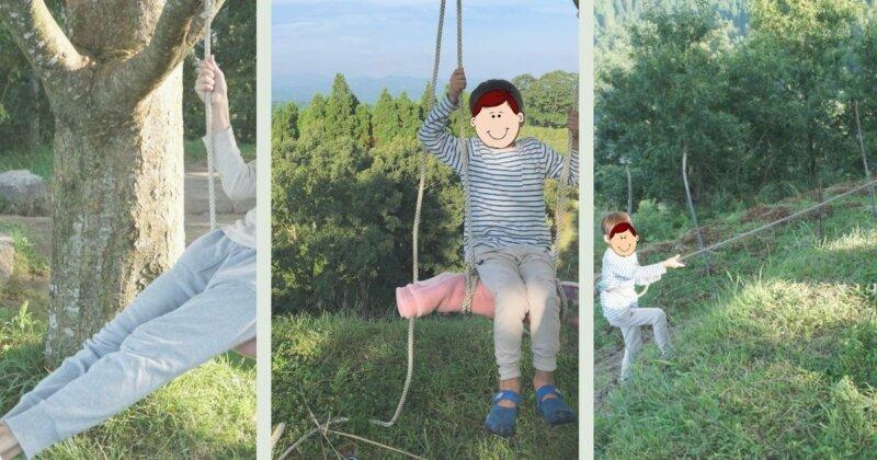 子連れキャンプでの遊び方、ブランコ